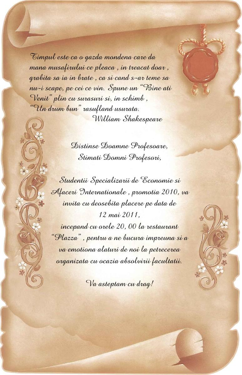 Invitatie Banchet Blog Invitatii Nunta
