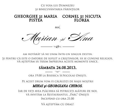 Aranjarea Invitatiei De Nunta Fonturi Pentru Ziua Cea Mare